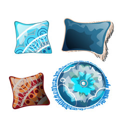 set of cushions for the interior vector image