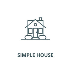 simple house line icon linear concept vector image