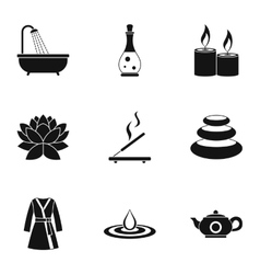 Skin care icons set simple style vector