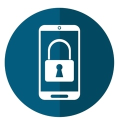smartphone security technology navigation shadow vector image