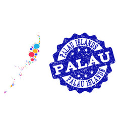 Social network map of palau islands with speech vector