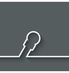 speaker microphone symbol vector image