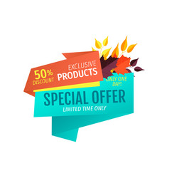 Special offer natural products vector