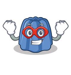 Super hero jelly character cartoon style vector