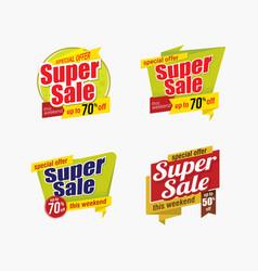 super sale badge template design vector image