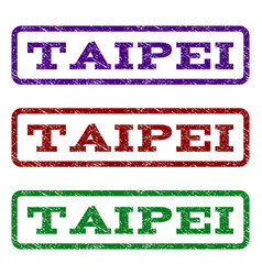 Taipei watermark stamp vector