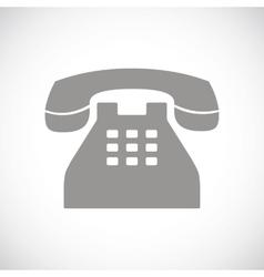 Telephone black icon vector image