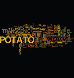 The maligned potato respect at last text vector