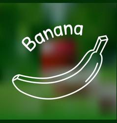 Thin line banana icon vector