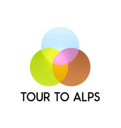 tour to alps vector image