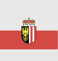 Upper austria flag vector