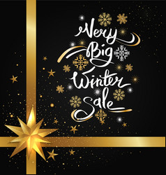 very big winter sale image vector image