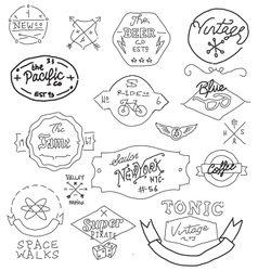 Vintage hand drawn logos vector
