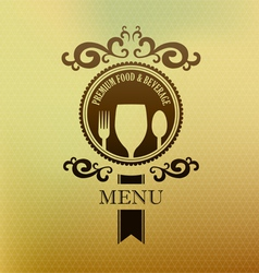 Vintage label menu food and beverage cover vector image