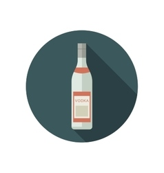 Vodka icon in flat style vector