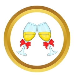 Wedding glasses icon vector