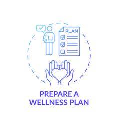 Wellness plan preparation concept icon vector