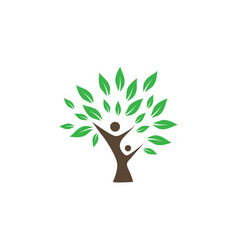 Wellness tree logo icon design template vector