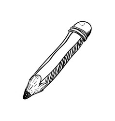 Wooden pencil draw vector