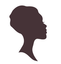 Young woman head silhouette vector