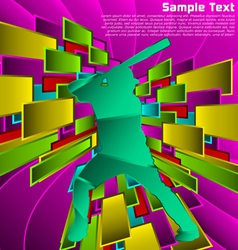 abstract sport design vector image