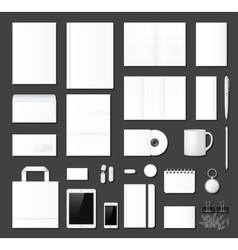 Business corporate identity template vector image