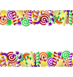 frame made of colorful candies vector image vector image