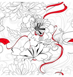 hand drawn seamless background vector image
