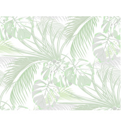 jungle background of leaves of tropical palms vector image vector image