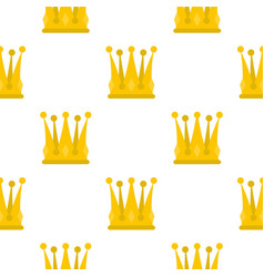 Kingly crown pattern flat vector