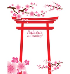 Sakura Gate vector image vector image