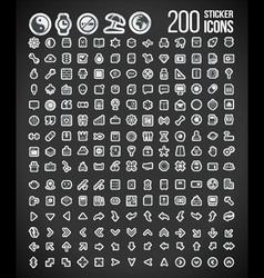 200 Sticker Icons set 2 vector image