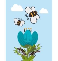 Butterfly cute cartoon design vector