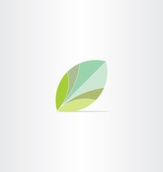 eco green leaf flat icon vector image vector image