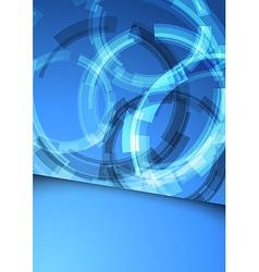 Gear folder blue abstraction vector image vector image