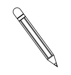 pencil utensil school write wooden line vector image