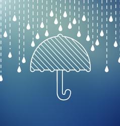 Raining on a umbrella vector image