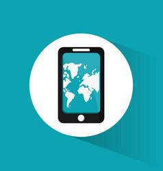 Smartphone travel application map vector