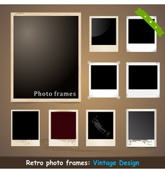 Vintage Photo Frame Design Template vector image