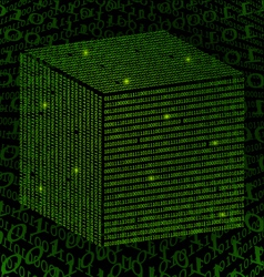 Binary Square Data background vector image