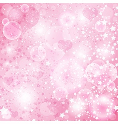 Gentle pink valentine background vector image vector image