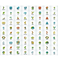 Logo set abstract business icons vector image