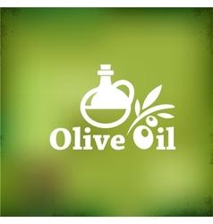 Olive oil backgound vector image vector image