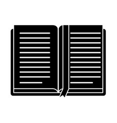 Open book school learning library pictogram vector