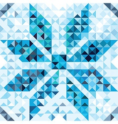 Seamless pattern of geometric snowflake vector image vector image