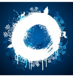 winter paint ring design vector image vector image