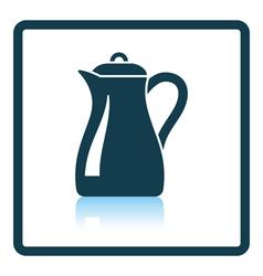 Glass jug icon vector