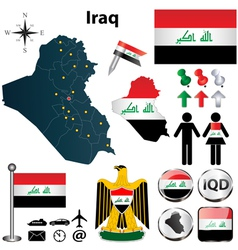 Map of iraq vector