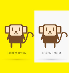 monkey cute cartoon vector image