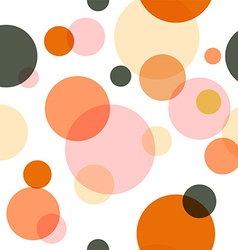 Seamless pattern of colored circles vector